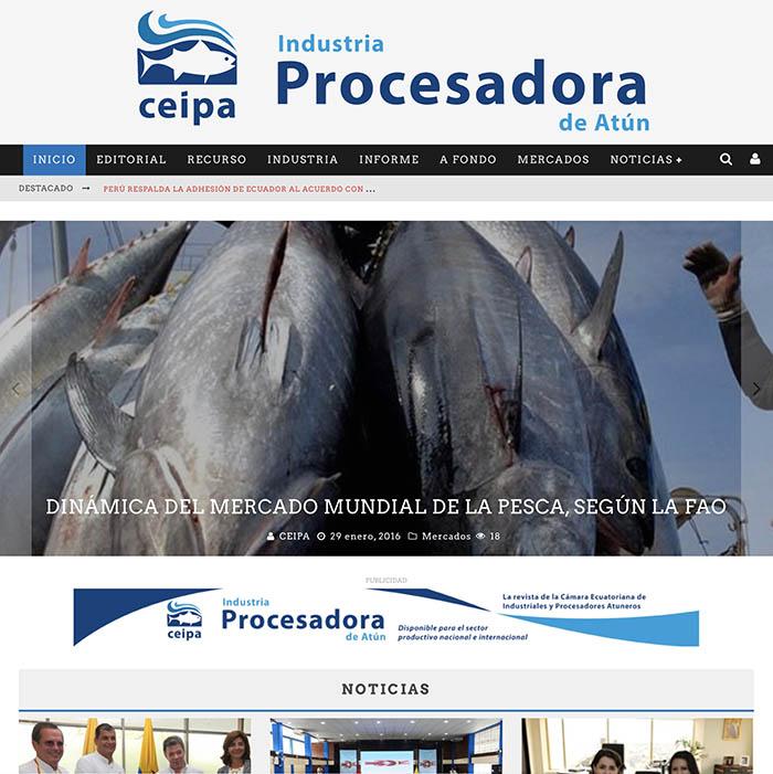 Nueva web de la Industria Procesadora de Atún